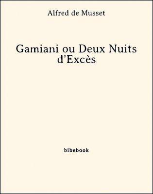Gamiani ou Deux Nuits d'Excès - Musset, Alfred de - Bibebook cover