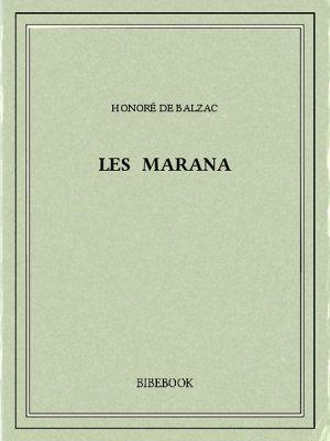 Les Marana - Balzac, Honoré de - Bibebook cover
