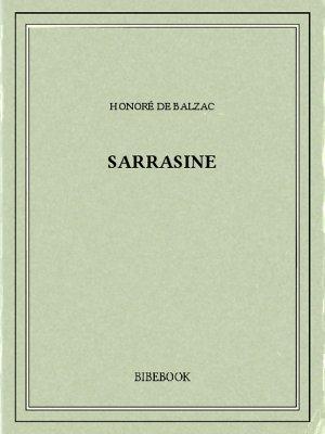 Sarrasine - Balzac, Honoré de - Bibebook cover