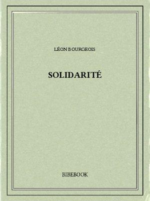 Solidarité - Bourgeois, Léon - Bibebook cover