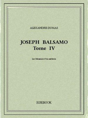 Joseph Balsamo IV - Dumas, Alexandre - Bibebook cover