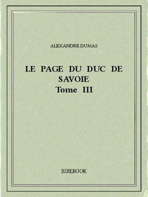 Le page du duc de Savoie III - Dumas, Alexandre - Bibebook cover