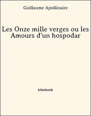 Les Onze mille verges ou les Amours d'un hospodar - Apollinaire, Guillaume - Bibebook cover