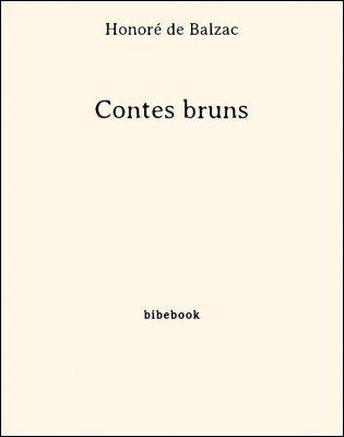 Contes bruns - Balzac, Honoré de - Bibebook cover
