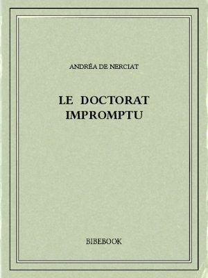 Le doctorat impromptu - Nerciat, Andréa de - Bibebook cover