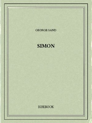 Simon - Sand, George - Bibebook cover