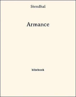Armance - Stendhal - Bibebook cover