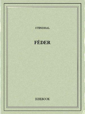 Féder - Stendhal - Bibebook cover