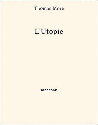 L'Utopie - More, Thomas - Bibebook cover