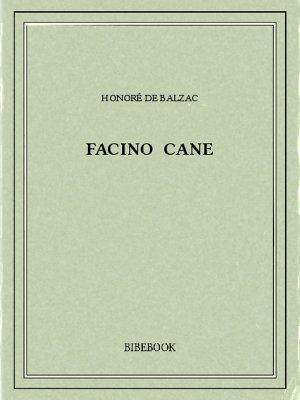 Facino Cane - Balzac, Honoré de - Bibebook cover