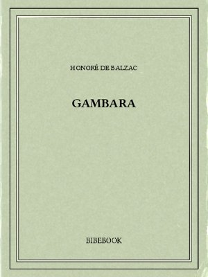 Gambara - Balzac, Honoré de - Bibebook cover