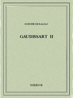 Gaudissart II - Balzac, Honoré de - Bibebook cover