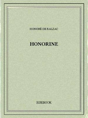 Honorine - Balzac, Honoré de - Bibebook cover