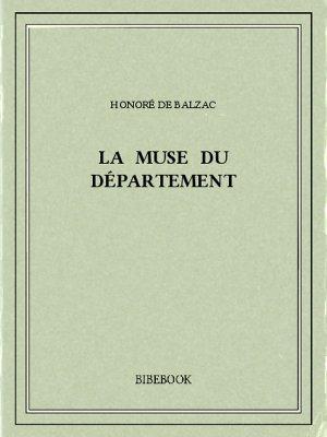La muse du département - Balzac, Honoré de - Bibebook cover