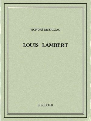 Louis Lambert - Balzac, Honoré de - Bibebook cover