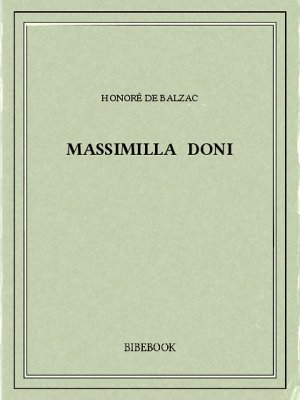 Massimilla Doni - Balzac, Honoré de - Bibebook cover