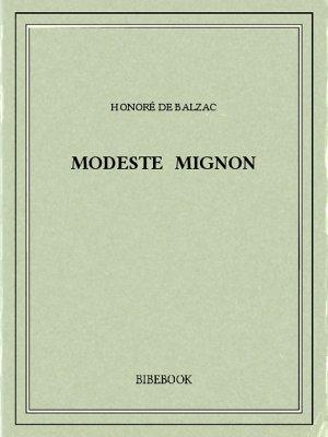 Modeste Mignon - Balzac, Honoré de - Bibebook cover