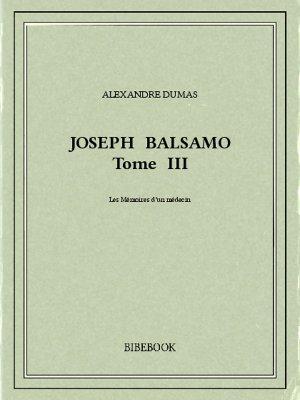 Joseph Balsamo III - Dumas, Alexandre - Bibebook cover