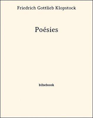 Poésies - Klopstock, Friedrich Gottlieb - Bibebook cover