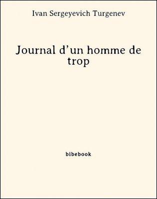 Journal d'un homme de trop - Turgenev, Ivan Sergeyevich - Bibebook cover