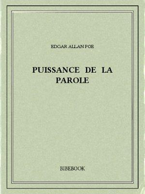Puissance de la parole - Poe, Edgar Allan - Bibebook cover