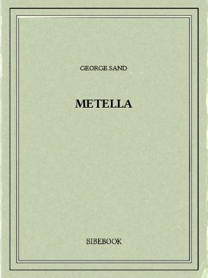Metella - Sand, George - Bibebook cover