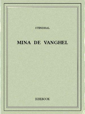 Mina de Vanghel - Stendhal - Bibebook cover