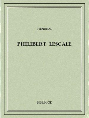 Philibert Lescale - Stendhal - Bibebook cover